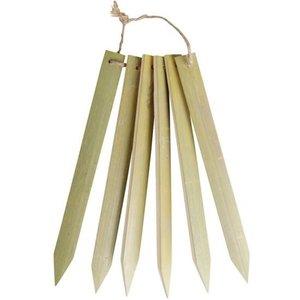 Bamboe plantenlabels