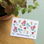 Bloom your message - Flowers make me so happy - bloeikaart - tuinspul.nl