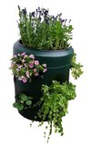 Wormencompost ton met verticale tuin_