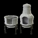 Terraskachel keramiek betonlook S | bbq en haard in 1 | Tuinspul