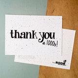 "Bloeikaart ""Thank you a 1000x!"" van BLOOM your message"