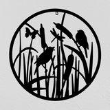 "Muurdecoratie rond ""vogels"" - Esschert Design"