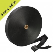 Brede boomband gordel op rol. 5 cm X 100 meter