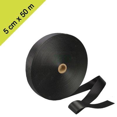 Brede boomband gordel op rol. 5 cm X 50 meter