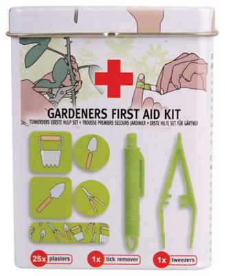 Eerste hulp set voor tuinierders