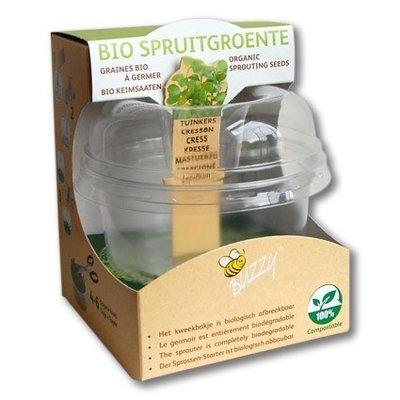 Kiembox + bio spruitgroente - 4 smaken