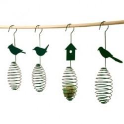 Metalen vogelvoederveer voor vetbollen
