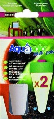 Aquasolo multipots - keramische kegels bloembak 2 stuks
