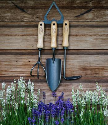 Set DeWit tuingereedschap op haak