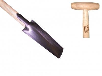 De Wit Pootspade met essen houten T-steel van 800mm
