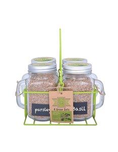 Kweek zelf basilicum, peterselie, bieslook en pepermunt met de Esschert Design Kweekset