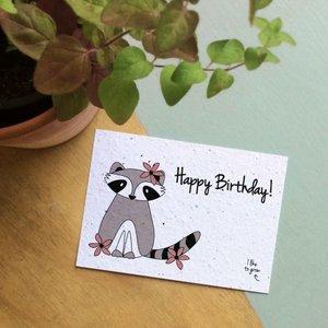 Bloom your message - Happy Birthday - bloeikaart - tuinspul.nl
