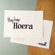 Hiep hiep hoera- bloeikaart -bloom your message - tuinspul.nl