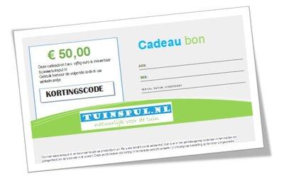 Tuinspul.nl Cadeaubon t.w.v. €50,-