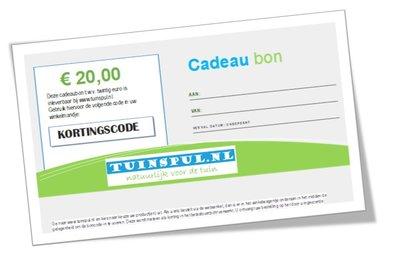 Tuinspul.nl cadeaubon t.w.v. €20,-