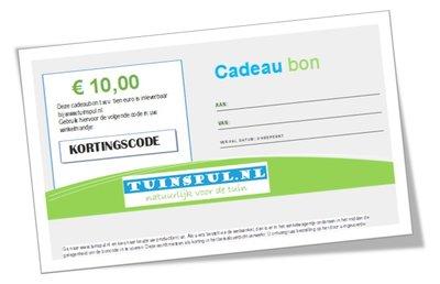 Tuinspul.nl cadeaubon t.w.v. €10,-