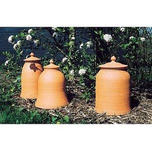 Bleekpot terracotta klokmodel